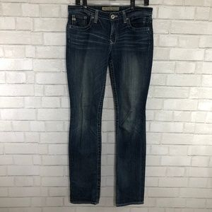 Big Star Maddie Skinny Mid Rise Fit, Size 28 Long